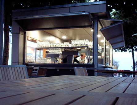 w3 architekten biergarten friedrichshafen. Black Bedroom Furniture Sets. Home Design Ideas